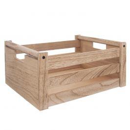 Bedýnka dřevo dekorace A NATURAL 36x26x16 cm ORION