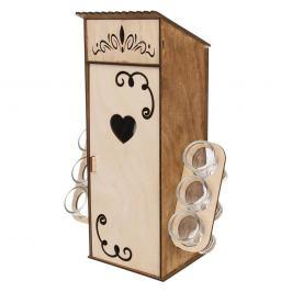 Stojan dřevo BUDKA+láhev sk. 0,5 l+odliv. sk. 6 ks ORION