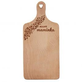 Prkénko rukojeť dřevo MAMINKA 30x14 cm ORION