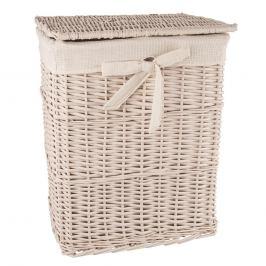 Koš na prádlo proutí/bavlna 45x35x56 cm BÉŽOVÝ ORION