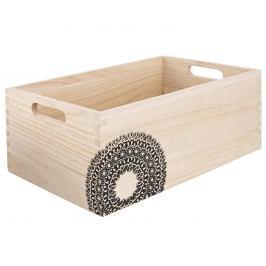 Bedýnka dřevo MANDALA 31x21x13 cm ORION