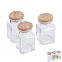 Dóza sklo/dřevo víko 0,15l 3ks ORION
