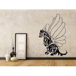 Samolepka na zeď Kočka s křídly 001