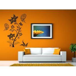 Samolepka na zeď Květiny s motýly 016