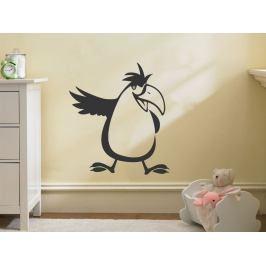 Samolepka na zeď Papoušek 001