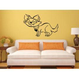 Samolepka na zeď Kočička 006