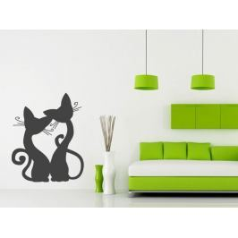Samolepka na zeď Kočička 008