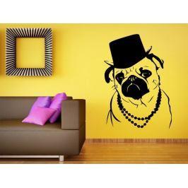 Samolepka na zeď Buldoček 001