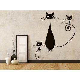 Samolepka na zeď Kočka 009