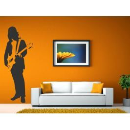 Samolepka na zeď Kytarista 009