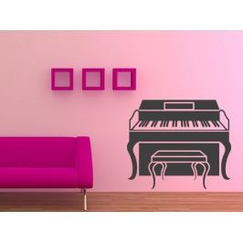 Samolepka na zeď Piano 010