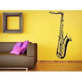 Samolepka na zeď Saxofon 001