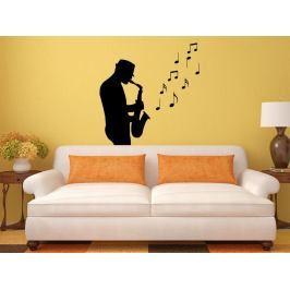 Samolepka na zeď Saxofonista 001