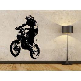Samolepka na zeď Motorka 004