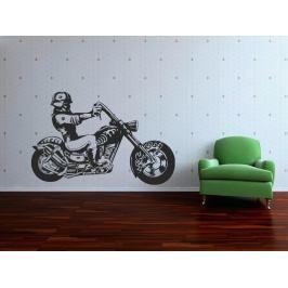 Samolepka na zeď Motorka 009