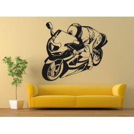 Samolepka na zeď Motorka 026