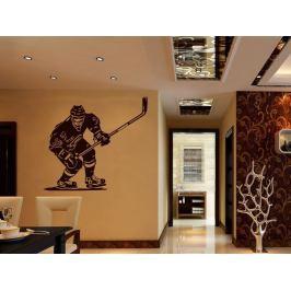Samolepka na zeď Hokejista 001