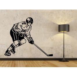 Samolepka na zeď Hokejista 002