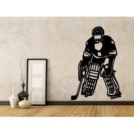 Samolepka na zeď Hokejista 003