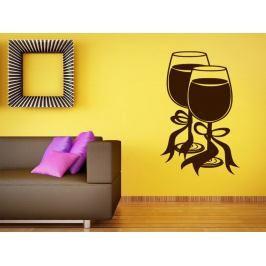 Samolepka na zeď Sklenice vína 0032