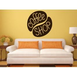 Samolepka na zeď Nápis Coffee shop 0055
