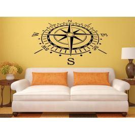 Samolepka na zeď Kompas 0060