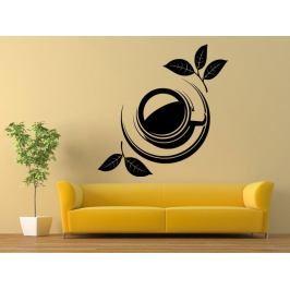 Samolepka na zeď Hrnek čaje 0073
