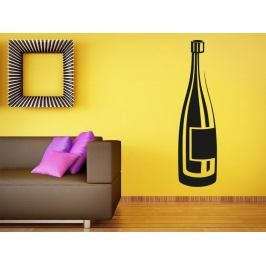 Samolepka na zeď Lahev vína 0078