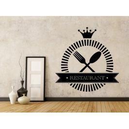 Samolepka na zeď Příbory a nápis Restaurant 0088