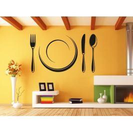 Samolepka na zeď Příbory a talíř 0089