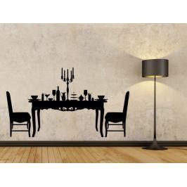 Samolepka na zeď Prostřený stůl 0113