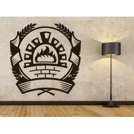 Samolepka na zeď Pizza pec 0131