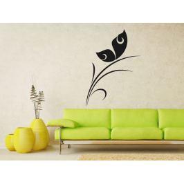 Samolepka na zeď Rostlina s motýlem 0193