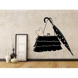 Samolepka na zeď Kabelka a deštník 0239