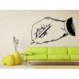 Samolepka na zeď Píšící ruka 0241