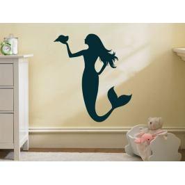 Samolepka na zeď Mořská panna 0284