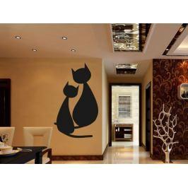 Samolepka na zeď Dvě kočky 0433