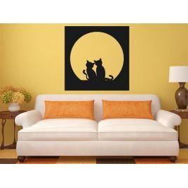 Samolepka na zeď Dvě kočky 0435