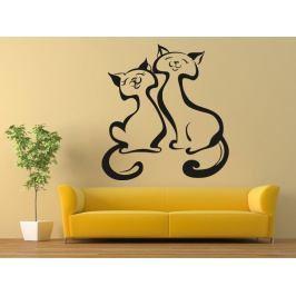 Samolepka na zeď Dvě kočky 0439