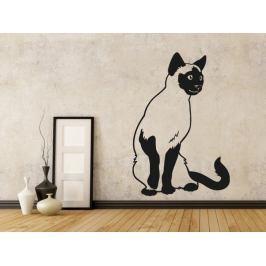 Samolepka na zeď Kočka siamská 0450