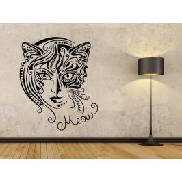Samolepka na zeď Kočičí žena 0470