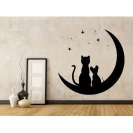 Samolepka na zeď Kočka a myš 0481