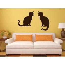 Samolepka na zeď Dvě kočky 0510