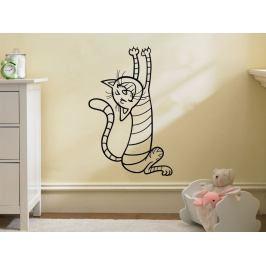 Samolepka na zeď Kočička 0517