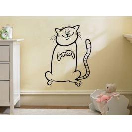 Samolepka na zeď Kočička 0518