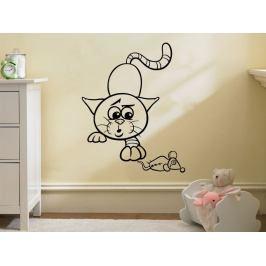 Samolepka na zeď Kočička 0525