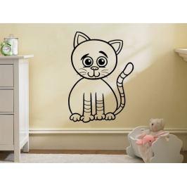 Samolepka na zeď Kočička 0526