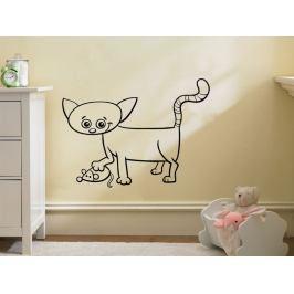 Samolepka na zeď Kočička 0531