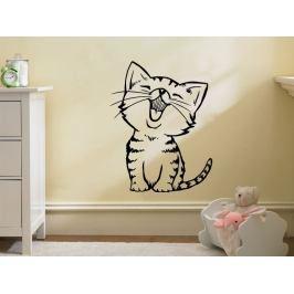 Samolepka na zeď Kočička 0535