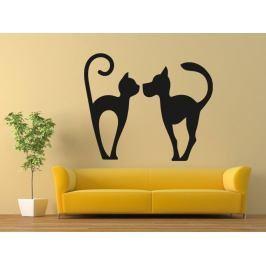 Samolepka na zeď Kočka a pes 0566